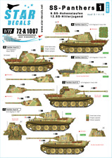 Star Decals 1:72 SS-Panthers #1 Hohenstaufen and Hitlerjugend #72A1007