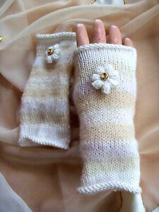Armstulpen Handstulpen Pulswärmer Handschuhe Stulpen UNIKAT Handarbeit gestrickt