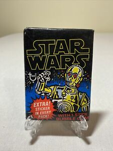 1977 Topps Star Wars Trading Card Series 1 Wax Fun Pack - New Sealed Vintage