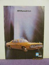 1971 Plymouth Fury Satellite Taxi Fleet Vehicles Sales Brochure Nice