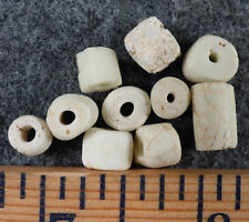 (10) Site Excavated Cherokee Indian Stone Trade Beads Pre-1600 Ancient Beads