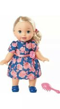 Little Mommy Sweet As Me Rose Dress Doll with Hairbrush
