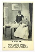 Mother Mom Poem Postcard Divided Back Posted 1910 Date Stamp Living Picture N067