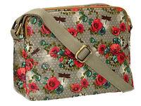 SWANKYSWANS Womens Ladies Dragonfly Rose Crossbody bag OilClot Designer Handbag