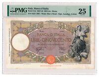 ITALY banknote 500 Lire 20.3.1941 PMG VF 25 Very Fine