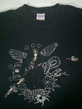 Manes Graphic T-Shirt Medium Black Norway Black Metal Perifa Obscura