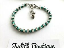 BRIGHTON CONFETTI  Turquoise Bead Silver  Bracelet