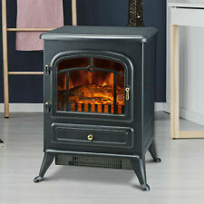 Electric Heater Metal Log stove flame and wood burning effect optimum performanc