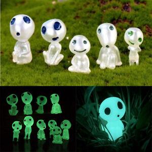 10PCS Luminous Garden Ghost Miniature Figurines Garden Statues Glow In The Dark