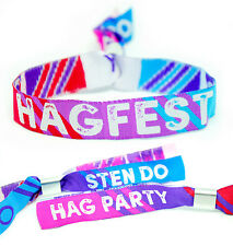 HAGFEST Hag Party / Sten Do / Joint Stag & Hen Party Festival Wristband Favours