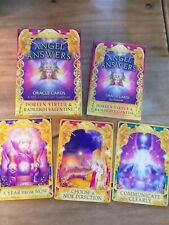Angel Answers Oracle Full Deck Of 44 Cards Doreen Virtue Gilded Beautiful OOP