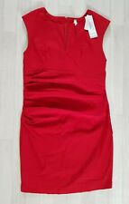 STELLA MORGAN size 16 red RUCHED PENCIL DRESS smart OCCASION sleeveless