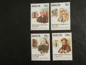 MALTA STAMPS 1997 - PIONEERS IN EDUCATION SET OF FOUR STAMPS - MINT NEVER HINGED