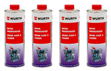 Genuine Wurth Engine Flush Cleaning All Petrol And Diesel Engines 400ml Fourpack