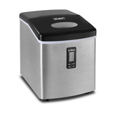 Devanti 3.2L Portable Ice Cube Maker - Stainless Steel (IM-ZB12S-SS)