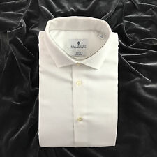 Ryan Seacrest Men's Slim Fit French Cuffed Dress Shirt, White, Size 16  32/33