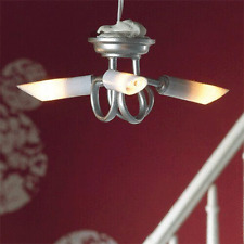 Dolls House Emporium 1/12th scale Modern Silver Triple Ceiling  Light 5359  New