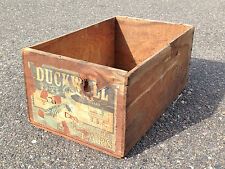 VINTAGE ORIGINAL DUCKWALL PEARS FRUIT CRATE BOX HOOD RIVER OREGON