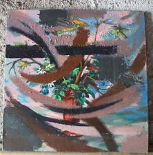 Huile sur toile. Le Parfum de M Perrin. Composition abstraite
