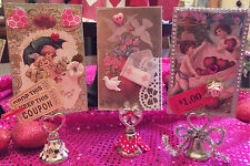 Stand-Up Valentine Home Decor Project KIT Papercrafting SET of 3