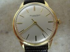 VINTAGE INTERNATIONAL WATCH CO SCHAFFHAUSEN 18K YELLOW GOLD  CAL 89 WATCH