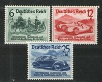 Germany - Third Reich 1939 Sc# B134-B136 MNH VF/XF - 1939 Berlin Auto Show