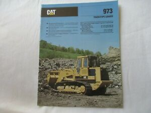 1989 CAT Caterpillar 973 track-type loader brochure