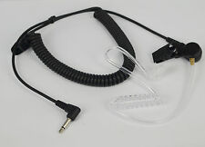2.5mm Police Listen Only Acoustic Tube Earpiece 1 Pin Radio Headset Shoulder Mic