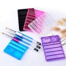 Plastic Nail Art Brush Pen Holder Display Rack Tray UV Polish Gel Carrier