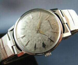 Vintage Longines Wittnauer Stainless Steel Florentine Dial Mens Watch  17J 1960s