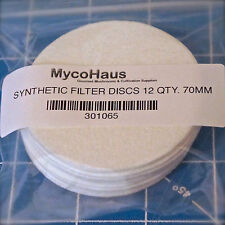 12 synthetic filter discs mushroom cultivation growing 70mm regular mouth