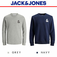 Jack And Jones Jumper Chest Logo Sweat Crew Neck Top