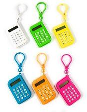Mini Calculator Bag Charm Keychain 8 Digits Display School Calculadora Portable