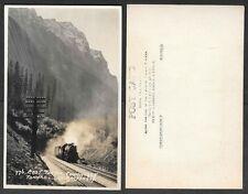 Canada Real Photo Postcard - Byron Harmon, Railroad Train Tunnel - #776
