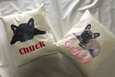 personalised cushions French Bulldogs  Australian made
