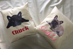 personalised cushions French Bulldogs  Australian made