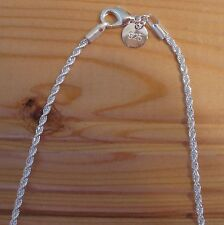 Man Woman Chain 2mm silver 925 sterling Rope or Snake (choice designs & sizes)