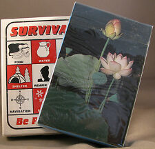 Survival Playing Cards + Plant ID Deck Prepper Kit Supplies Doomsday Prepping E