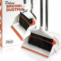 Primica Broom and Dustpan Set - Self-Cleaning Broom Bristles