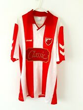 More details for red star belgrade home shirt 1991. xl. original adults football top only.
