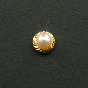 O150 - Boucle d'Oreille Seule, OR 18K,Perle Naturelle, pour le style dépareillé