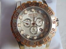 "Invicta Reserve 52mm Leviathan ""Swiss Made"" Quartz Chronograph Brushed SS Watch"