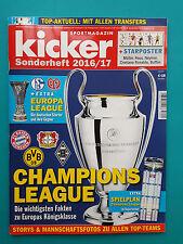Kicker Sportmagazin-Sonderheft Champions League 2016/17 + Spielplan ungelesen 1a
