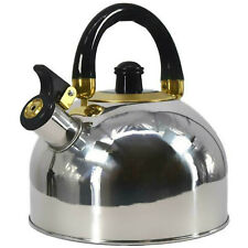 2.5 L Stainless Steel Whistling Camping Kettle Cordless Gas Hob Kitchen Teapot