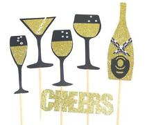 Photo Booth Props - Set of 6 Cheers Engagement Wedding Party Props New Years
