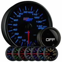 GlowShift Tinted 7 Color 3 3/4 In Dash Speedometer Gauge