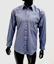 Burton mens shirt Plain Bluey Grey Casual Work office size 14.5 button up top