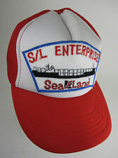 Rare Sea Land S/L Enterprises Maritime Snapback Hat  VTG  Longshoreman Sailor