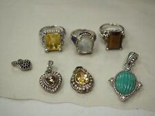 Judith Ripka Sterling Ring and Pendant Lot