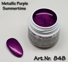 5 ml  UV Exclusiv Summertime Farbgel Metallic Purple Gel Nr.848